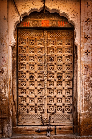 Wooden old door vintage texture background photo