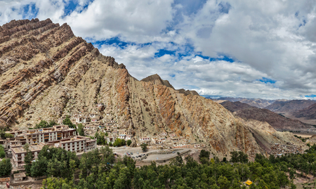 gompa: Panorama of Hemis gompa (Tibetan Buddhist monastery), Ladakh, Jammu and Kashmir, India