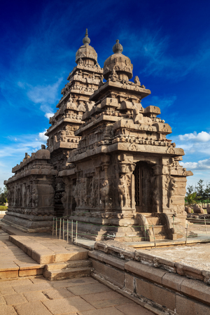 tamil nadu: Famous Tamil Nadu landmark - Shore temple, world  heritage site in  Mahabalipuram, Tamil Nadu, India