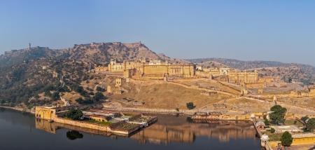 Famous Rajasthan landmark - Amer (Amber) fort, Rajasthan, India photo