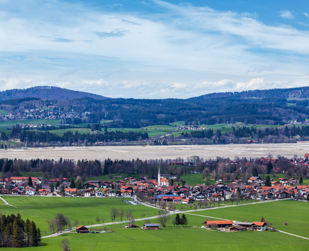 German countryside and village. Bavaria, Germany photo