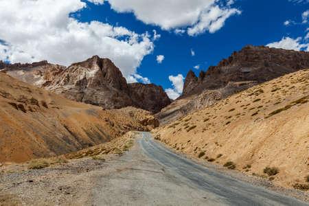earthroad: Manali-Leh road to Ladakh in Indian Himalayas. Ladakh, India