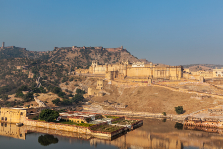 Famous Rajasthan landmark - Amer (Amber) fort, Rajasthan, India photo