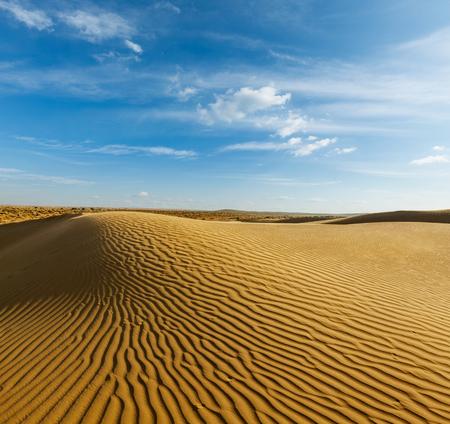desert sunset: Dunes of Thar Desert. Sam Sand dunes, Rajasthan, India
