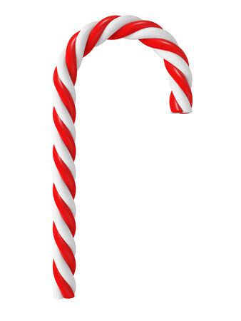 candy cane: Chrismas candy cane isolated on white Stock Photo
