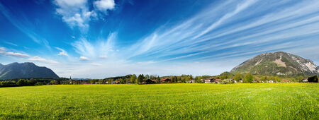 Panorama of German countryside and village. Bavaria, Germany photo