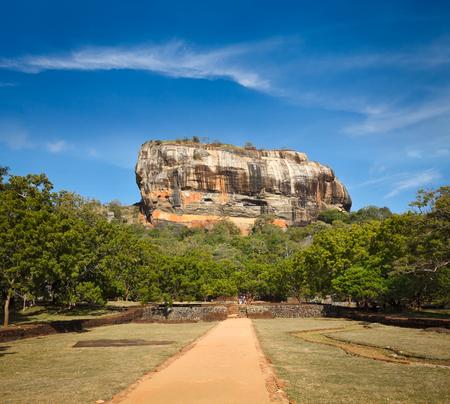 famous: Famous ancient Sigiriya rock. Sri Lanka Stock Photo