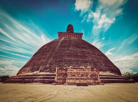 lanka: Jetavaranama dagoba  (stupa). Anuradhapura, Sri Lanka