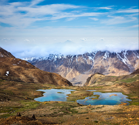 himachal pradesh: Mountain lakes in Spiti Valley in Himalayas. Himachal Pradesh, India