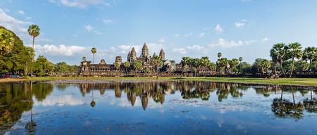 Panorama van de beroemde Cambodja landmark Angkor Wat