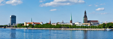 st jamess: Panorama of Riga over Daugava river: Riga Castle, St. Jamess Cathedral, Riga Cathedral, St. Peters Church