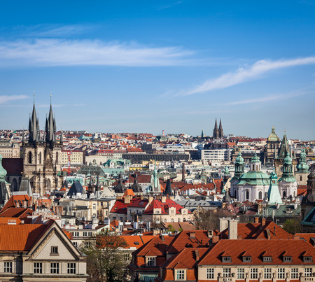 travelled: Aerial view of Prague, Czech Republic