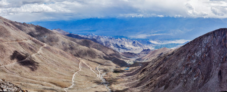 allegedly: Panorama of Indus valley from Kardung La pass - allegedly the highest motorable pass in the world (5602 m). Ladakh, India