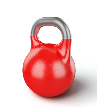 righteous: Gym equipment weight kettle bell isolated on white Stock Photo