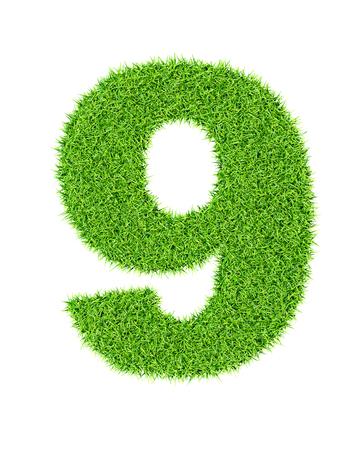 numero nueve: Hierba Número 9 (nueve) - ecología ecológico tipo de carácter concepto