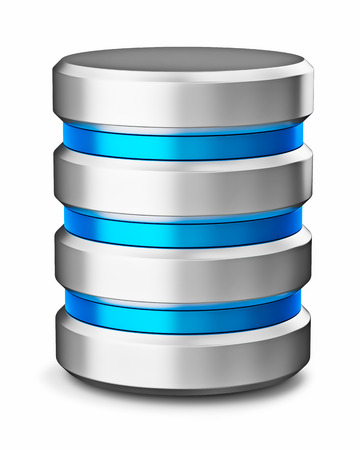 hard disk drive: Hard disk drive data storage database icon symbol isolated on white background