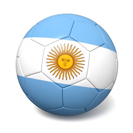 footbal: Soccer footbal ball with Argentina flag