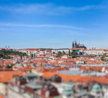 stare mesto: View of Stare Mesto Old City, St. Vitus Cathedral