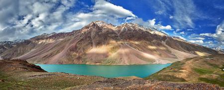 tal: Chandra Tal lake in Himalayas Stock Photo