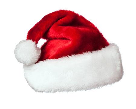 head shots: Santa hat on white Stock Photo