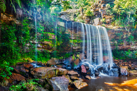khmer: Tropical waterfall. Popokvil Waterfall, Bokor National Park, Cambodia