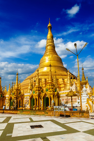 travelled: Myanmer famous sacred place and tourist attraction landmark - Shwedagon Paya pagoda. Yangon, Myanmar