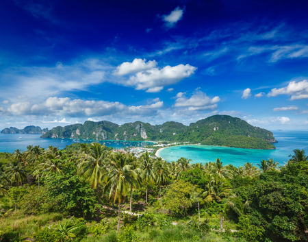 Green tropical island photo