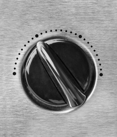 hi fi: Technology control knob dial Stock Photo