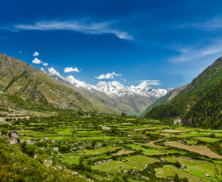 himalayas: Valley in Himalayas Stock Photo