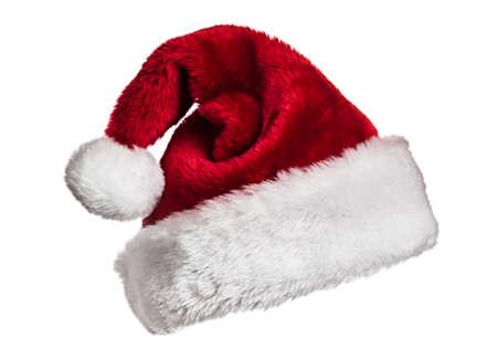 Santa hat on white photo