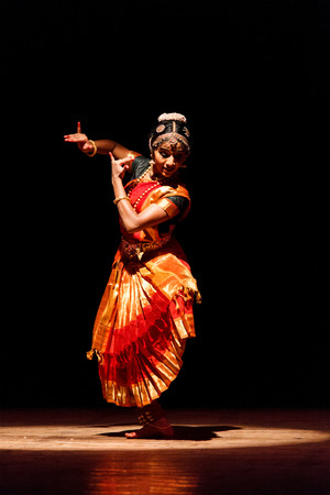 bharatanatyam dance: CHENNAI, INDIA - SEPTEMBER 28: Bharata Natyam dance performed by female exponent on September 28, 2009 in Chennai, India. Bharatanatyam is a classical Indian dance form originating in Tamil Nadu state