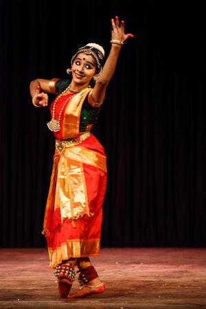 bharatanatyam dance: CHENNAI, INDIA - SEPTEMBER 28: Bharata Natyam dance performed by female exponent on September 28, 2009 in Chennai, India. Bharatanatyam is a classical Indian dance form originating in Tamil Nadu state