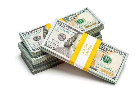 Bundles of 100 US dollars 2013 edition banknotes photo