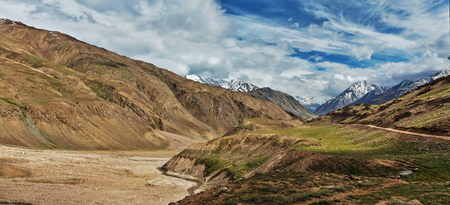 unsurfaced road: Himalayan landscape Stock Photo