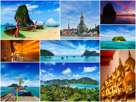 thai temple: Collage of Thailand images