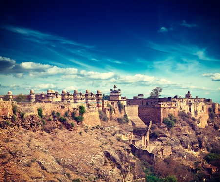 mughal architecture: Mughal architecture - Gwalior fort. Gwalior, Madhya Pradesh India Stock Photo
