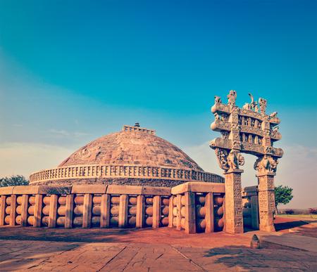madhya pradesh: Great Stupa. Sanchi, Madhya Pradesh, India