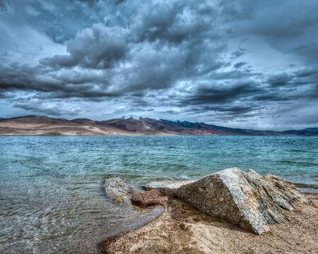ladakh: Lake Tso Moriri, Ladakh Stock Photo