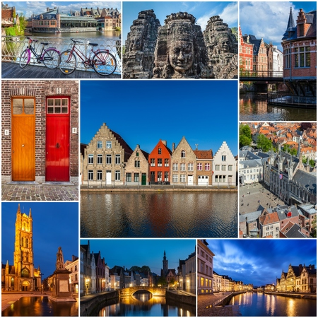 storyboard: Mosaic collage storyboard of Belgium images Stock Photo