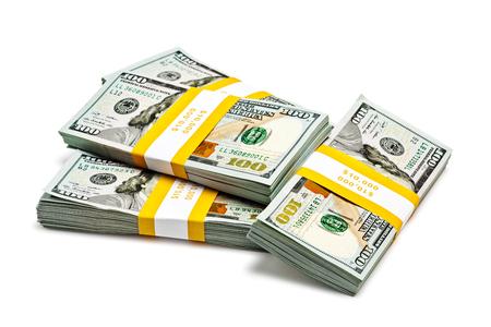 Bundles of 100 US dollars 2013 banknotes bills photo