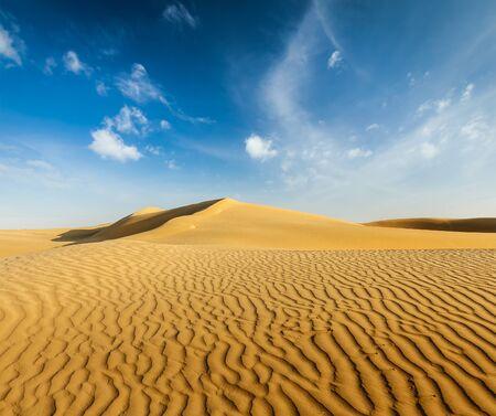 thar: Dunes of Thar Desert, Rajasthan, India Stock Photo
