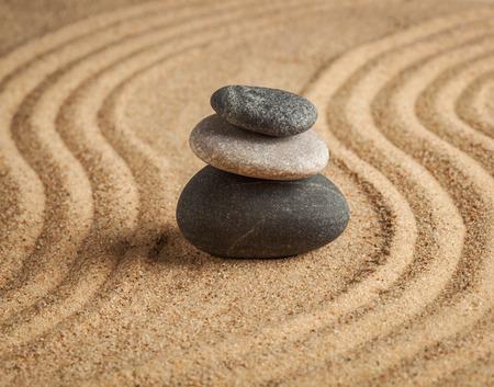 zen stone: Japanese Zen stone garden
