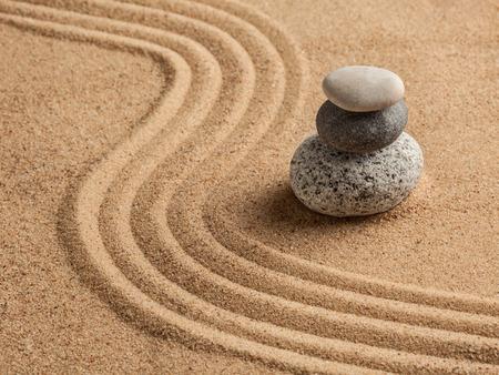 Japanse Zen stenen tuin