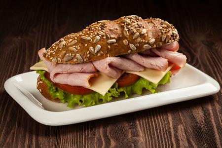non vegetarian: Ham sandwich