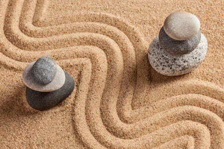 piedras zen: Jardín japonés de piedra Zen Foto de archivo