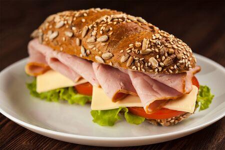 Ham Sandwich Foto de archivo - 37102564