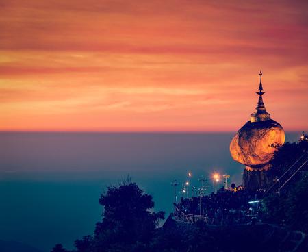 rock: Golden Rock - Kyaiktiyo Pagoda, Myanmar