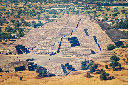 pre columbian: Pyramid of the Moon. Teotihuacan, Mexico