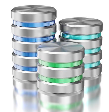 Hard disk drive data storage database icon symbols