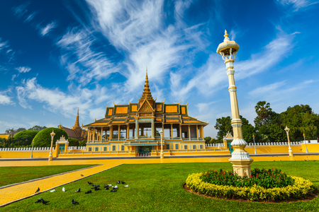 penh: Phnom Penh Royal Palace complex Editorial